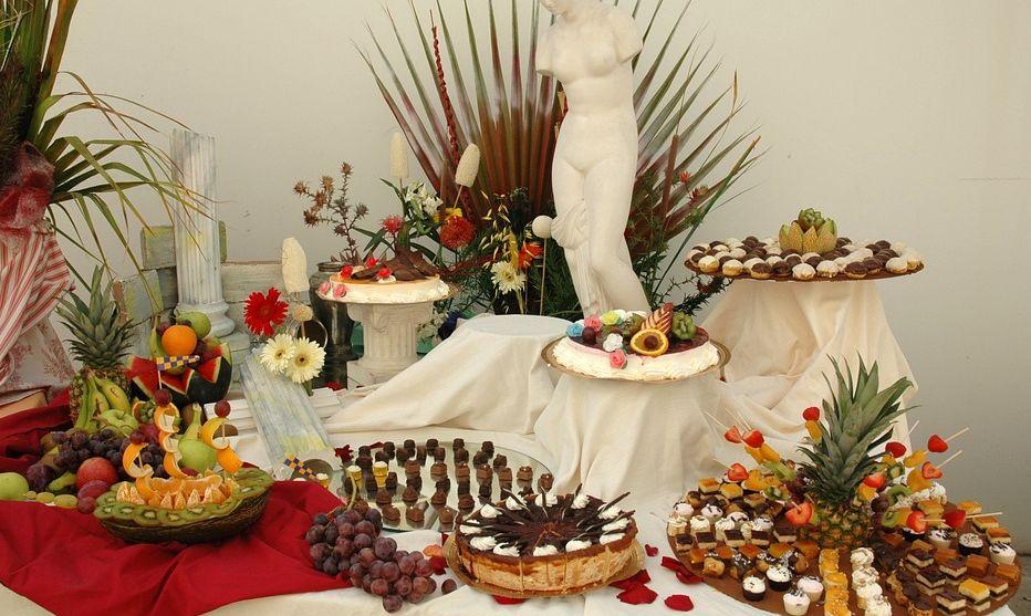 assiettes pour buffet mariage